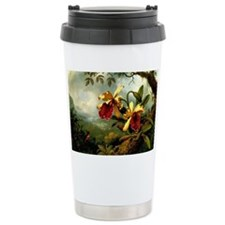 Orchids and Hummingbird Travel Mug