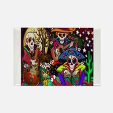 Day of the Dead Music art by Julie Oakes Magnets