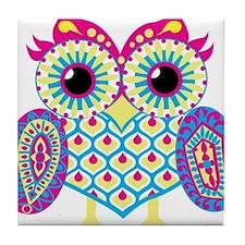 Owl highlight Tile Coaster