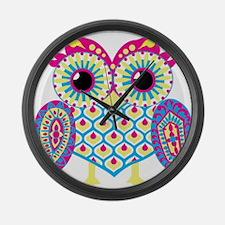 Owl highlight Large Wall Clock