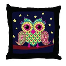 stars and owl Throw Pillow