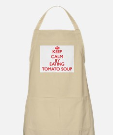 Keep calm by eating Tomato Soup Apron