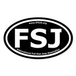 Full Size Jeep Oval Sticker with Black Background
