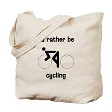 I'd Rather Be Cycling Tote Bag