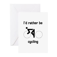 I'd Rather Be Cycling Greeting Cards (Pk of 10)