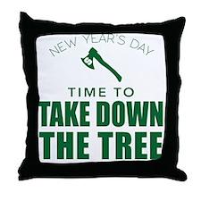MSU Row Bowl Green Ax Throw Pillow
