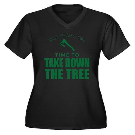MSU Row Bowl Women's Plus Size V-Neck Dark T-Shirt