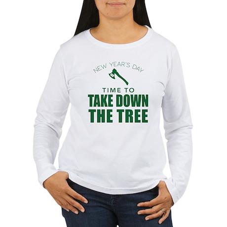 MSU Row Bowl Green Ax Women's Long Sleeve T-Shirt