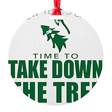 MSU Rose Bowl Green Tree Ornament