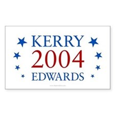 Kerry Edwards 2004 Rectangle Decal