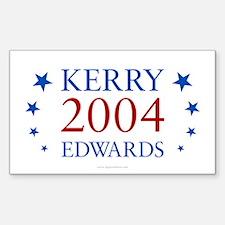 Kerry Edwards 2004 Rectangle Decal