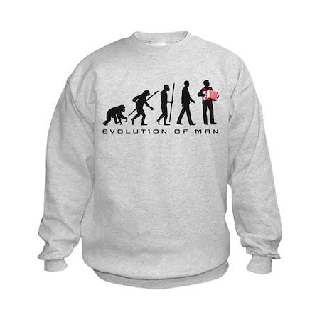 evolution of man accordion player Sweatshirt