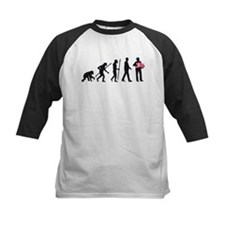 evolution of man accordion player Baseball Jersey