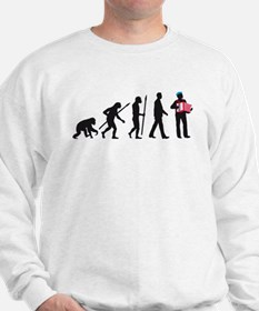 evolution of man accordion player Sweatshirt