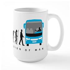 evolution of man bus driver Mugs