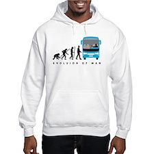 evolution of man bus driver Hoodie