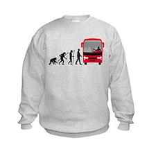 evolution of man bus driver Sweatshirt