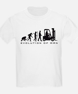 evolution of man forklift driver T-Shirt