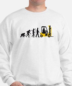 evolution of man forklift driver Sweatshirt