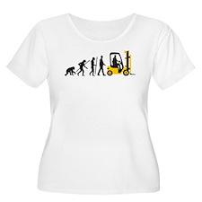 evolution of man forklift driver Plus Size T-Shirt