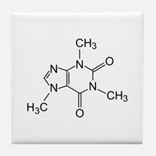 Caffeine Molecule Tile Coaster