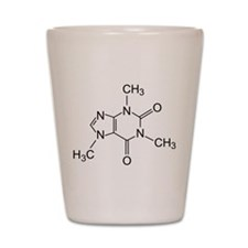 Caffeine Molecule Shot Glass