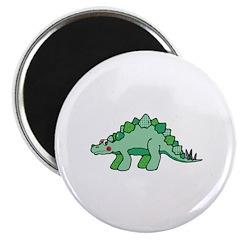 Cute Green Stegasaurus Dinosaur 2.25