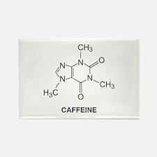 Caffeine Molecule Rectangle Magnet
