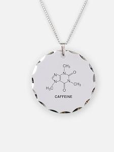 Caffeine Molecule Necklace