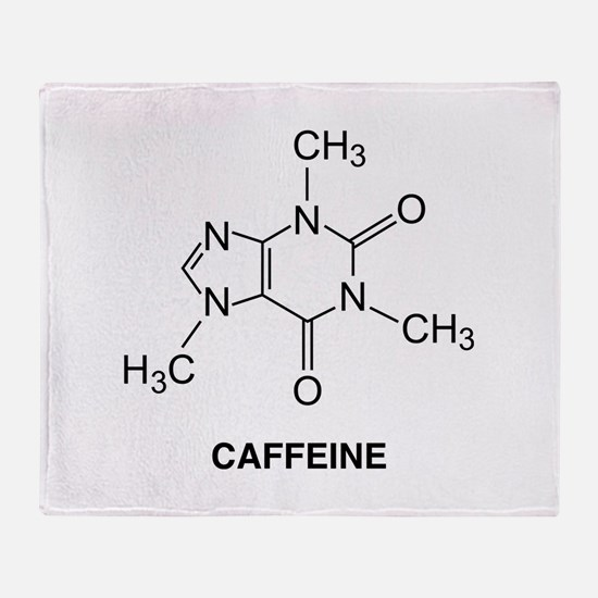 Caffeine Molecule Stadium Blanket