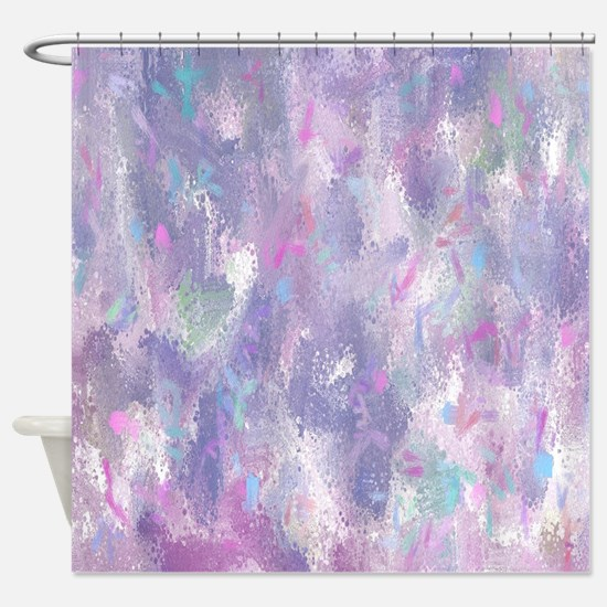 purple and teal shower curtain. Spring Illusion Abstract Shower Curtain Purple Curtains  CafePress