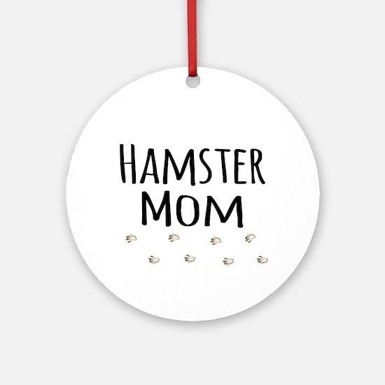 Hamster Mom Ornament (Round)