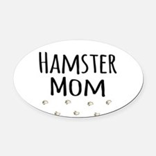 Hamster Mom Oval Car Magnet
