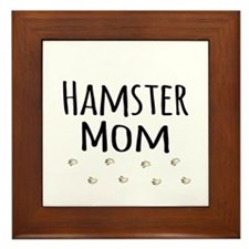 Hamster Mom Framed Tile