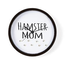 Hamster Mom Wall Clock