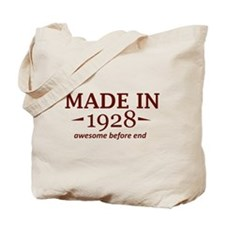 Made in 1928 Tote Bag