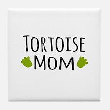 Tortoise Mom Tile Coaster
