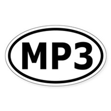 MP3 Oval Bumper Decal
