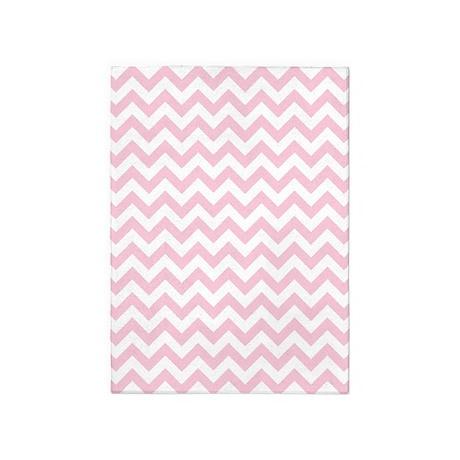 Soft Pink White ZigZag 5'x7'Area Rug