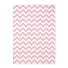 Soft Pink White ZigZag 5'x7'Area Rug