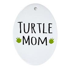 Turtle Mom Ornament (Oval)