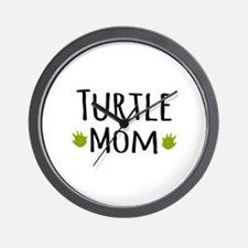 Turtle Mom Wall Clock