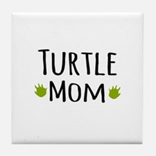Turtle Mom Tile Coaster