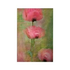 Pink poppies Rectangle Magnet