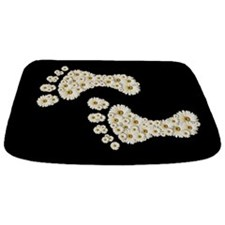 Daisy Footprints Bathmat