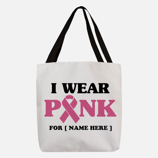Breast Cancer Cause Polyester Tote Bag