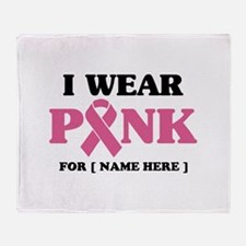 Breast Cancer Cause Throw Blanket
