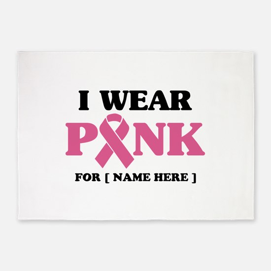 Breast Cancer Cause 5'x7'Area Rug