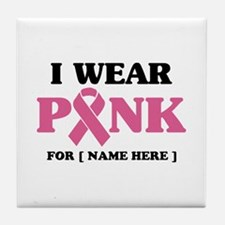 Breast Cancer Cause Tile Coaster