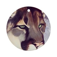 Miss Mtn. LionSQRE.jpg Ornament (Round)
